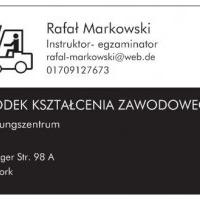 Kurs na wózki widłowe w języku polskim lub niemieckim (niemieckie uprawnienia)